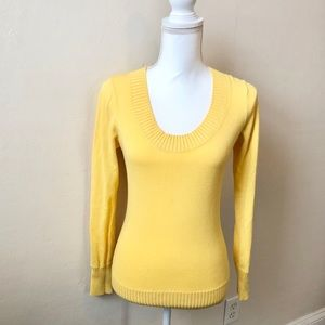 Forever 21 Canary Yellow Scoop Neckline Sweater